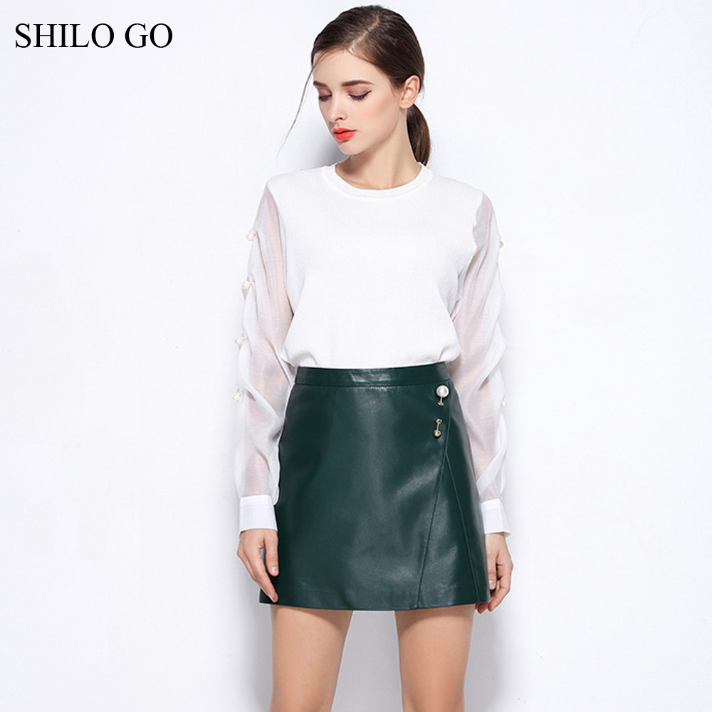 Compare Prices on Green Leather Skirt- Online Shopping/Buy Low ...