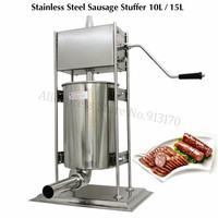 10L Sausage Stuffer Economical Commercial Vertical Sausage Filling Machine Stainless Steel Manual Spanish Churros Maker