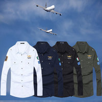 2016 Spring Military Quality Men S Casual Brand Army Green Shirts Man Autumn 100 Cotton Khaki