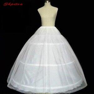 Image 4 - לבן כדור שמלת 3 חישוקי תחתונית שמלת רך קרינולינה תחתוניות אישה בנות חישוקי חצאית Pettycoat