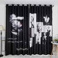 Europe style 3d Blackout Curtains Marilyn Monroe Star Wedding Pattern  Thickened Velvet Children Bedroom Curtains for Living Room
