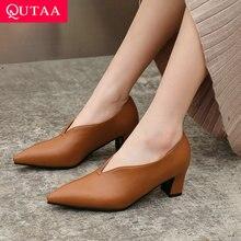 34-43 2020 Qutaa 女性の靴ミュール靴プラットフォームスリップ女性は、ポインテッドトゥすべての一致パンプスサイズ