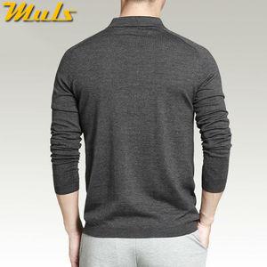 Image 3 - 8 色メンズポロセーターシンプルなスタイルの綿ニット長袖プルオーバービッグサイズ 3XL 4XL 春秋 Muls ブランド MS16005
