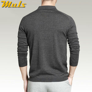 Image 3 - 8 colors mens polo sweaters Simple style cotton knitted long sleeve pullovers big size 3XL 4XL spring autumn Muls brand MS16005