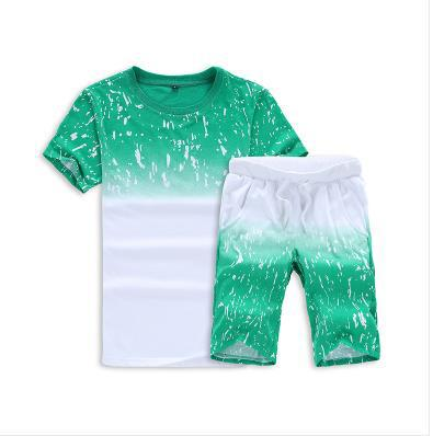 New Fashion Sportsuit and Tee Shirt Set Men T Shirt + Short Pants 2PCS SET Men Summer Tracksuit Men Casual Brand Tee Shirts