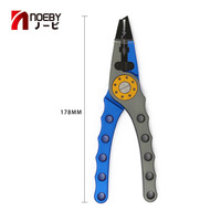 Noeby 8cm 134g Aviation Aluminum Red And Blue Fishing Plier