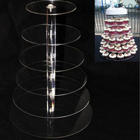 10pcs 6 Tier Acrylic cupcake stand Round Cake Stands for Wedding Party Cake Display Decoration cupcake holder ZA5613