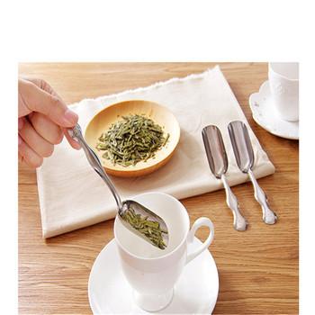 Łyżeczka do herbaty ze stali nierdzewnej minimalistyczna łyżeczka do herbaty łopatka do herbaty łyżeczka do herbaty miarki do kawy prosty i praktyczny chiński przydatne narzędzie do herbaty tanie i dobre opinie EH-LIFE CN (pochodzenie) STAINLESS STEEL 2 36*1 18inch*5 71inch tea spoon