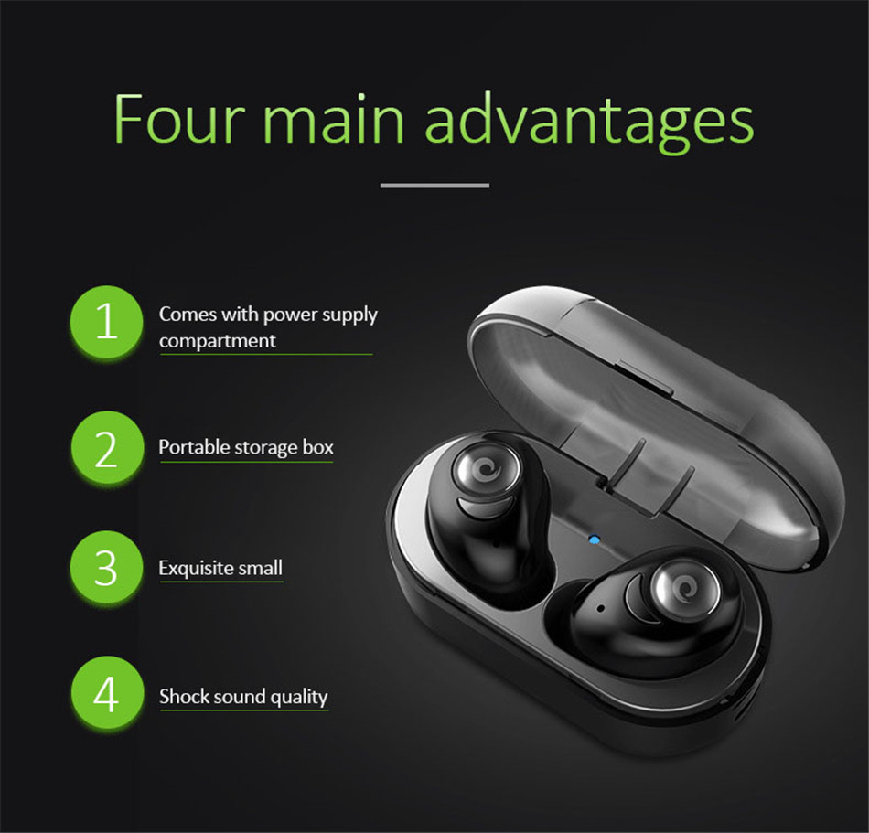 TTLIFE Bass Stereo Fone De Ouvido Bluetooth Headphone Headset Wireless Earphones with Microphone Charging Box For Xiaomi Phone