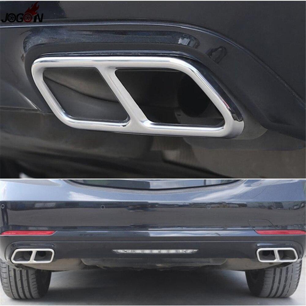 Pour Mercedes Benz classe S W221 facelift 2010-2013 & W222 C217 A217 2014-2017 embouts de silencieux de tuyau d'échappement arrière double