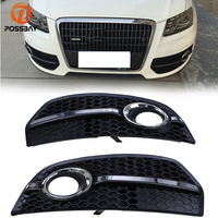 POSSBAY Car Front Racing Grill Grille Fog Lights Covers Fit for Audi Q5(8R) MK1 2008 2012 Pre facelift Exterior Accessories