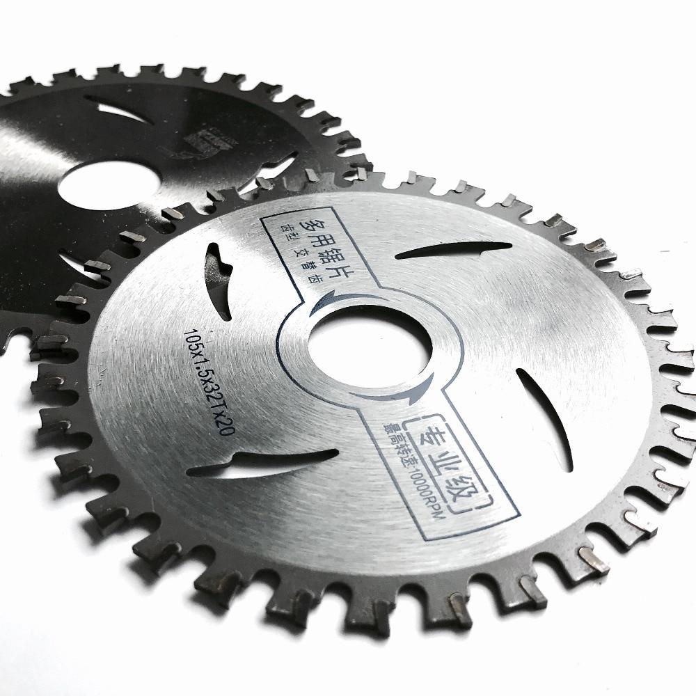 Envío gratis 2 UNIDS / paquete de corte de aluminio de alta calidad 105 * 1.5 * 20 * 32T TCT hoja de sierra para NF metal aluminio / corte de perfil de hierro