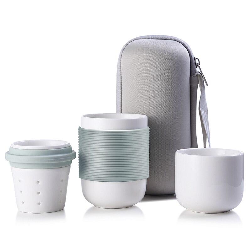 4pcs set Travel Mugs Tea Set Ceramic Cups and Coffee Mugs with Lid Taza Glass Water