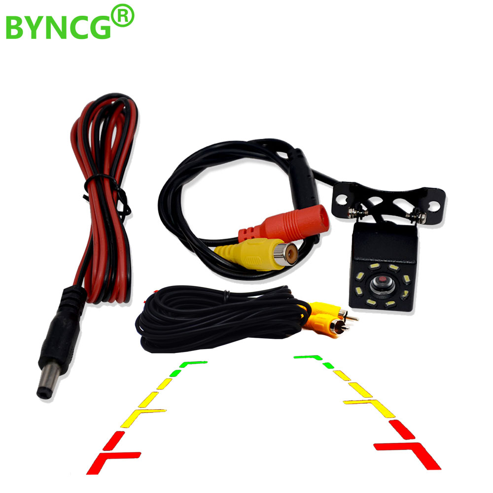BYNCG 8 LED Night Vision Car Rear View Camera Universal Backup Parking Camera Waterproof  Wide Angle HD Color ImageBYNCG 8 LED Night Vision Car Rear View Camera Universal Backup Parking Camera Waterproof  Wide Angle HD Color Image