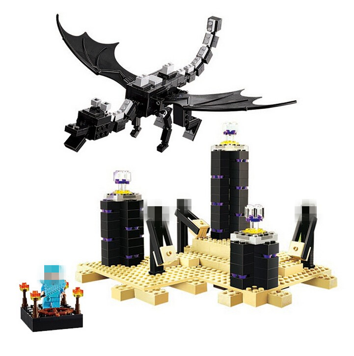ФОТО 2016 NEW BELA Minecrafted series 634pcs The Ender Dragon Model Building Blocks Classic  Toys