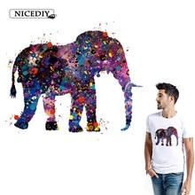 Nicediy Elephant Printed Iron On Transfer Patches Heat Transfer Vinyl Sticker Iron On Transfers For Clothes T-shirt Washable DIY цена и фото