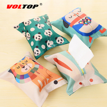 Cartoon Animals Car Accessories Tissue Box Lovely Car Dashboard Ornaments Paper Towel Bag Napkin For Car Office Home