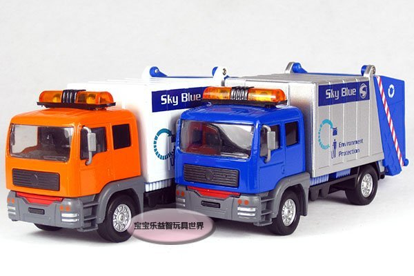 Free shipping--Garbage truck / cleaner / acousto-optic Edition/alloy model car / puzzle toy Christmas gift car electronics