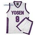 Kuroko keine Basuke Basket Cosplay Yosen Schule Uniformen Murasakibara Atsushi Jersey 9 12 Sportswear Männer T-shirt Shorts Kostüm Set