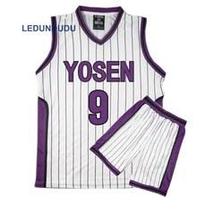Kuroko no Basuke Cestino Cosplay Uniformi Scolastiche Yosen Murasakibara Atsushi Jersey 9 12 Uomini di Abbigliamento Sportivo T Shirt Shorts Costume Set