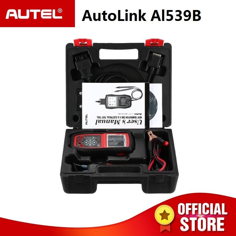 Autel AutoLink AL539B OBDII scanner automotive Electrical Test Tool OBD 2 car diagnostic code reader battery tester PK al539 ieasy300 pro automotive diagnostic scan tool code reader 10 obdii test modes read