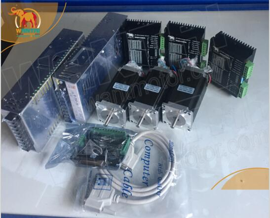 CNC 3 Assi Nema 23 Stepper Motor 1.8 degree, 428oz-in, 4.2A, WT57STH115-4204A & (DQ542MA driver) intero CNC Mill kit Regolatore