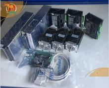 CNC Motor paso a paso Nema 23 de 3 ejes 1,8 grados, 428ozin, 4.2A,WT57STH115 4204A y (controlador DQ542MA) kit controlador de fresadora CNC completo