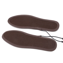 New USB Electric Powered Plush Fur Heating Insoles Winter Keep Warm Foot Shoes Insole