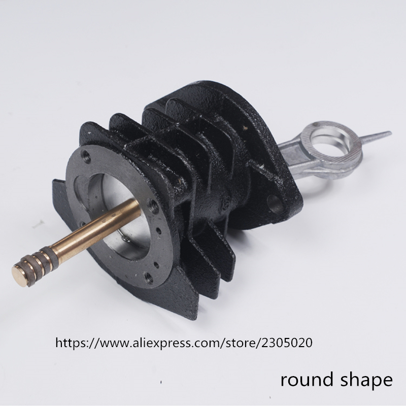 PCP air compressor round shape cyliner with pushing rods match 4 rings and piston and connecting