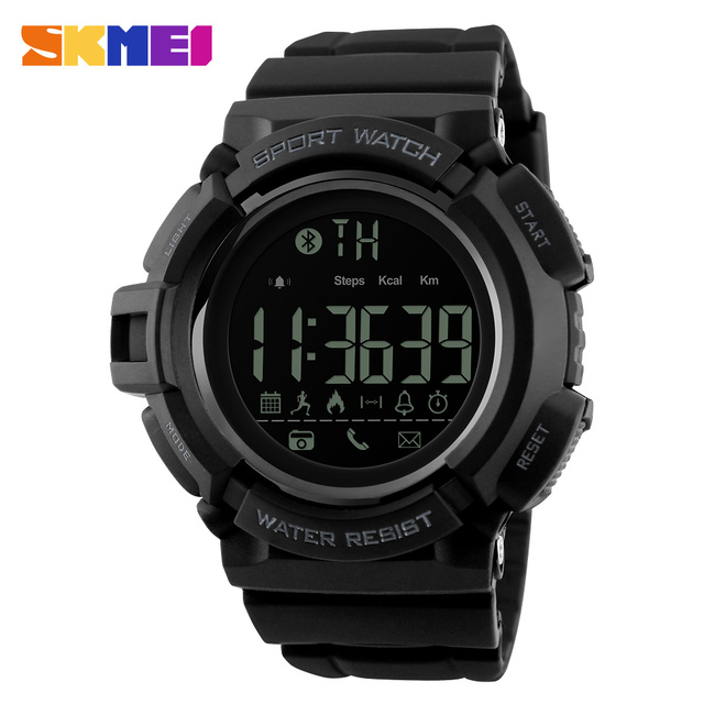 SKMEI Waterproof Fitness Smart Watches Remote Camera Call Reminder Pedometer Calorie Bluetooth Smart Sport Watch