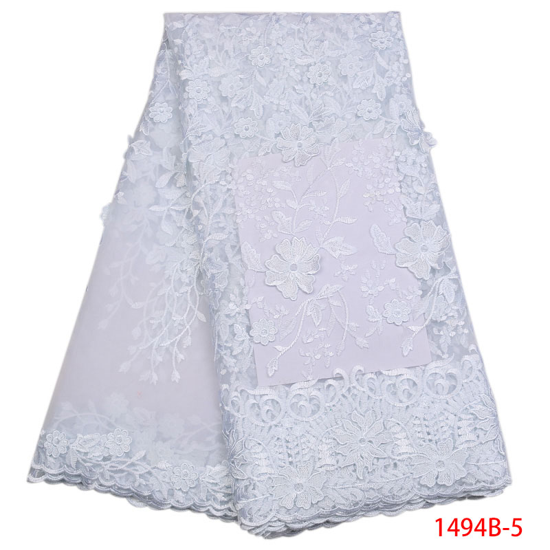 White Color Nigerian French Tulle  Lace Fabrics 2019 African Tulle Lace Fabric African Lace Wedding Fabric For Dress APW1494B-2White Color Nigerian French Tulle  Lace Fabrics 2019 African Tulle Lace Fabric African Lace Wedding Fabric For Dress APW1494B-2