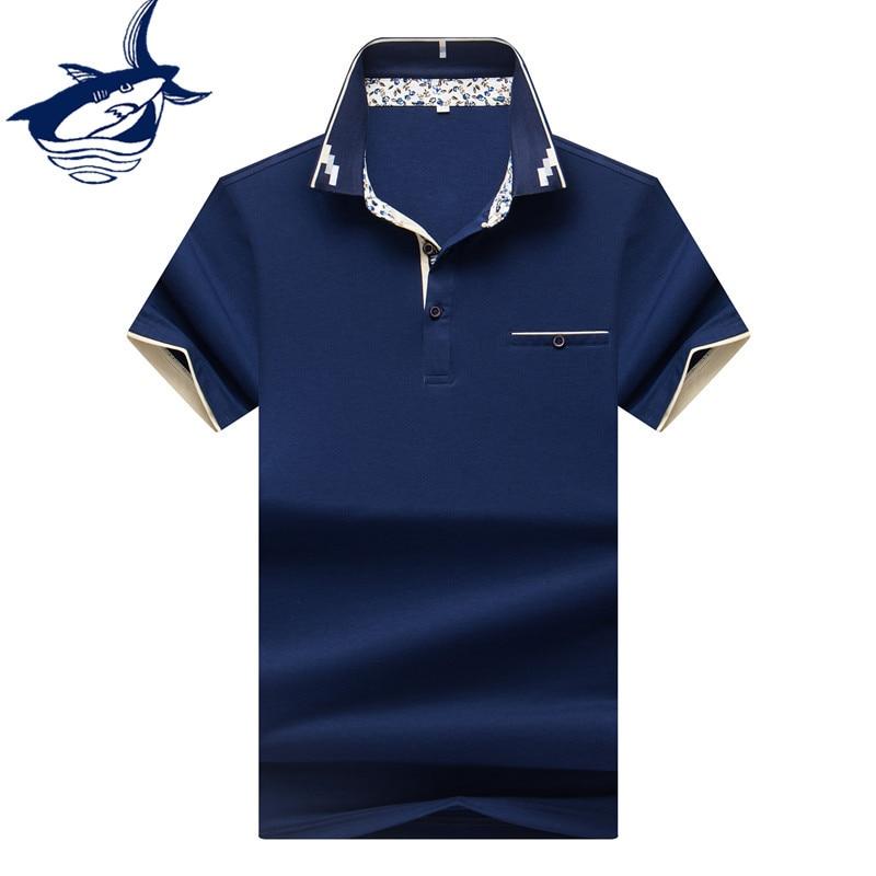 Hot Sale Men Clothes 2018 Solid camisa polo masculina ropa hombre Cotton Brand Tace Shark Polo Shirt Men Short Sleeve 2