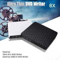 HOT USB 3.0 DVD recorder Externe Optische Drive DVD Brander Slim Ultra DVD-ROM Speler Draagbare Sucker Driver Voor Notebook Laptop