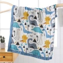 110*120 см супер мягкие высокой плотности детское нижнее белье из бамбукового волокна одеяло из бамбукового хлопка, 4 слоя детское одеяльце для сна летняя детская одежда одеяло