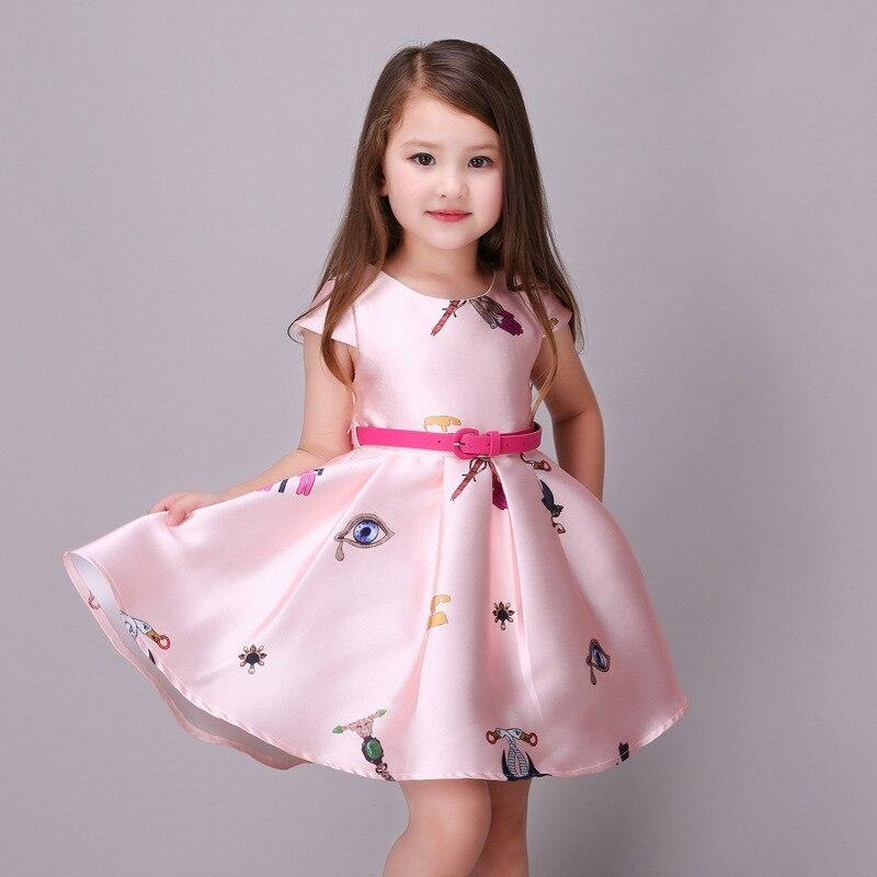 602099487076 Sexemara summer formal girls dresses girl clothes cartoon pattern ...