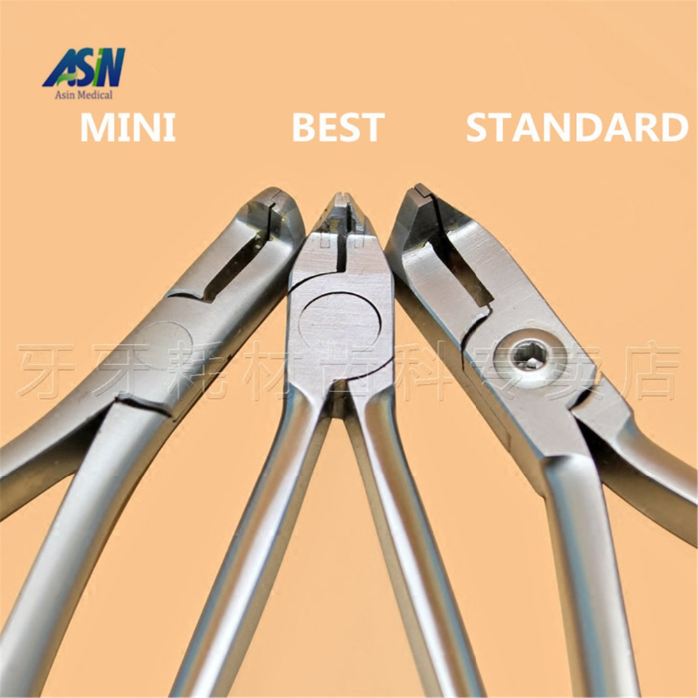 High Quality Dental Mini end cutting pliers orthodontic pliers Arch wire end clamp Dental orthodontic tools 1pcs dental orthodontic tool filament forceps end cutting distal end cutter cut off clamp stainless steel pliers