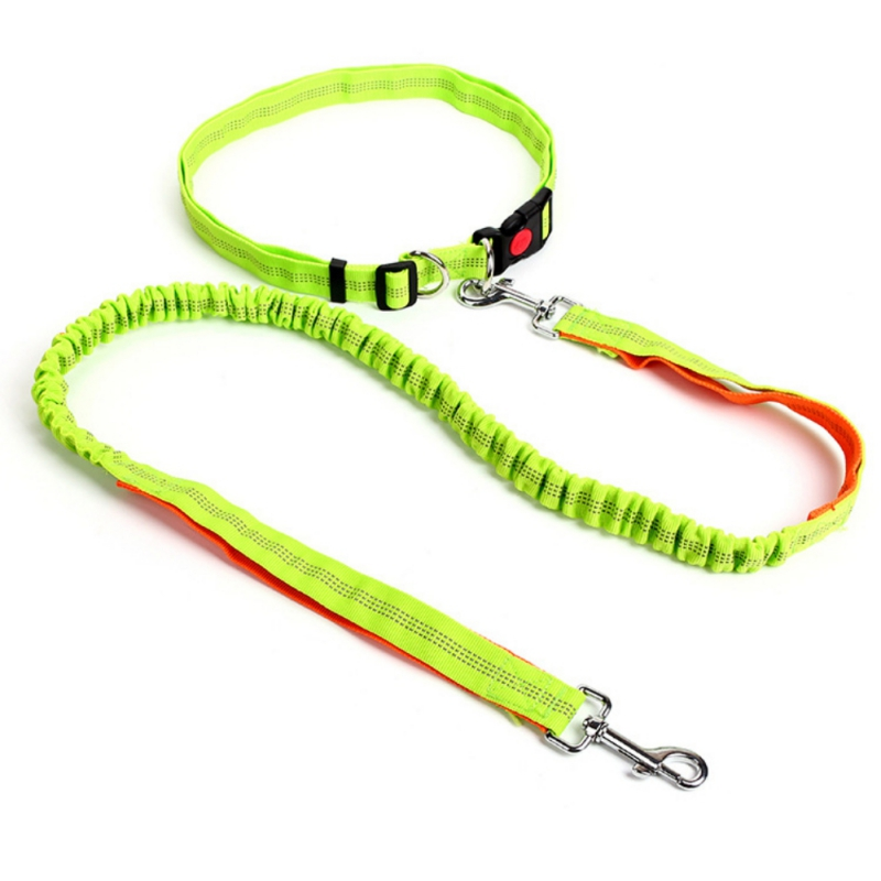 dog Leash Rope With Reflective Jogging Dog Collars Leash Cl109 Pet Products Imported From Abroad Pet Dog Running Leashes Hands Freely Great For Walking Dog Collars & Leads