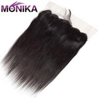 Monika Hair Peruvian Straight Human Hair Lace Frontal Closure Pre Plucked 13x4 Ear To Ear Full Lace Closure Human Hair Extension
