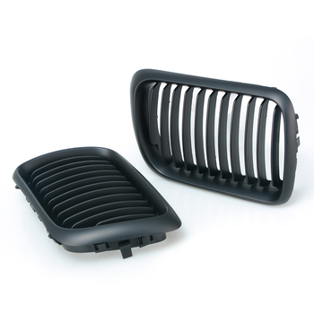 SUGERYY 1 Pair For BMW 3 Series E36 1997-1999 Matte Black M Color Front Kidney Car Racing Grill Grille Bumper Car-styling image