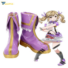 BanG Dream Ichigaya Arisa Purple Shoes Cosplay Boots Custom Made