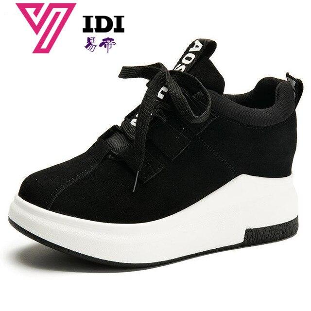 c48db098b02 YIDI Fashion Tenis Feminino Casual Women Shoes Black Platform Sneakers Women  2017 Superstar Ladies Shoes Woman Chaussures Femme