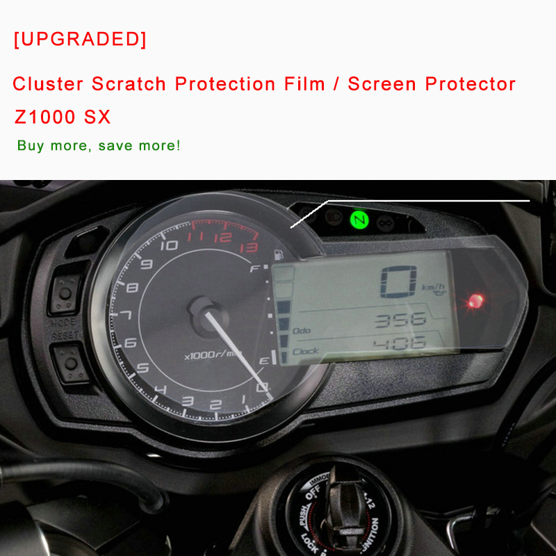 For Kawasaki Z1000 SX <font><b>Z1000SX</b></font> <font><b>2011</b></font> 2012 13 14 15 16 Cluster Scratch Protection Film Screen Protector Blue Light Explosion-proof image