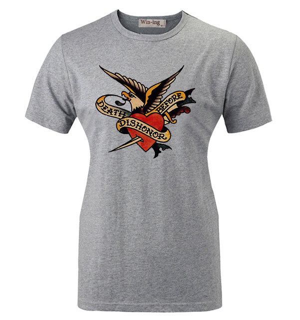 ef9c6622 Summer Casual Cotton T shirt SAILOR JERRY TATTOO VINTAGE RETRO Eagle Dagger  Graphic Women Girl Short Sleeves T-shirt Tops