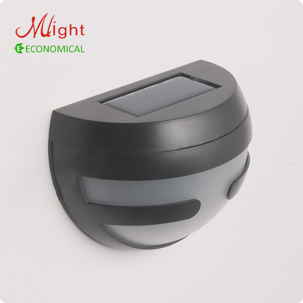 buy outdoor led solar wall light fence lamp rechargeable battery garden. Black Bedroom Furniture Sets. Home Design Ideas