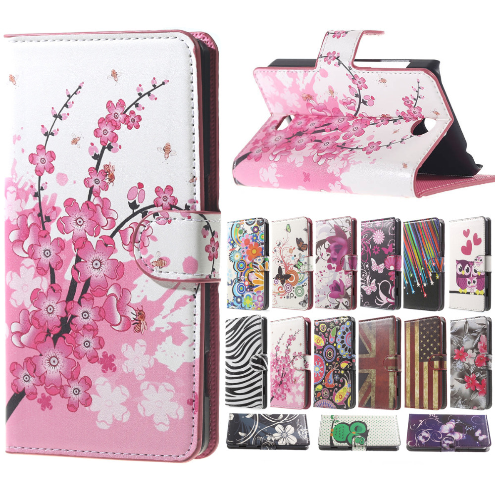Plum Magnetic PU Leather Wallet Stand Case Cover sFor Flip s