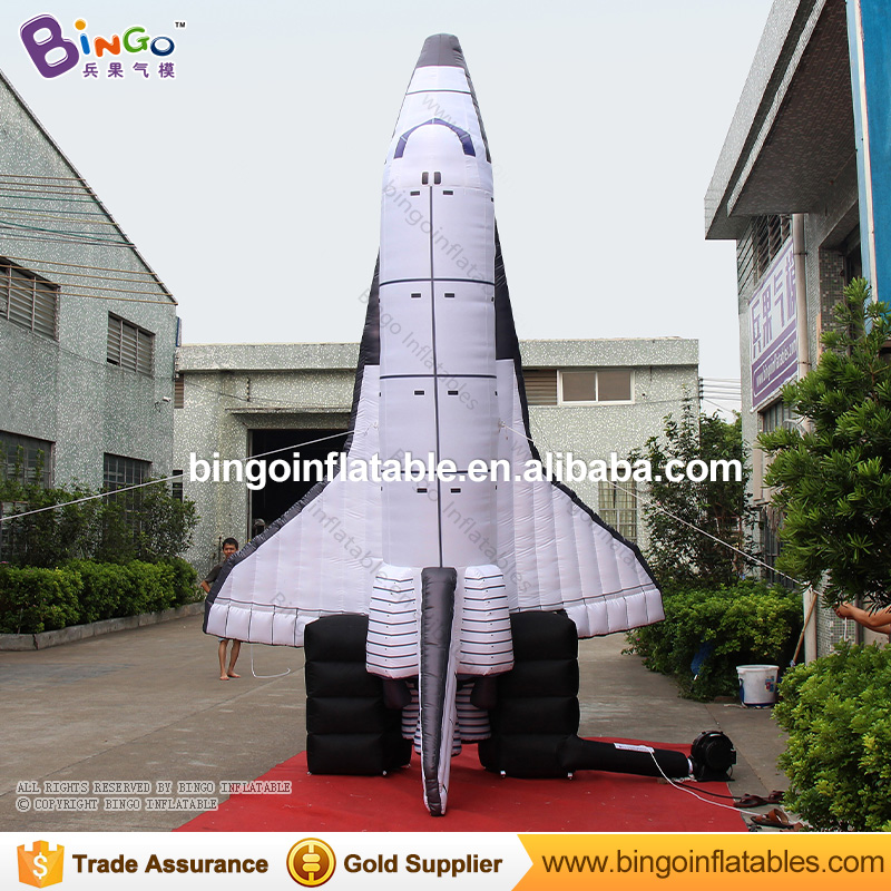 2018 Hot popular 16.4ft high giant inflatable spaceship toy decoration for carnival inflatable dirigible toy for children party giant christmas inflatable 5m high inflatable christmas santa claus cartoon for outdoor party events festival toy