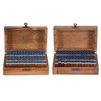 ASLT 70pcs Multi Purpose Alphabet Letter Number Wood Rubber Stamps Set Wooden Bo