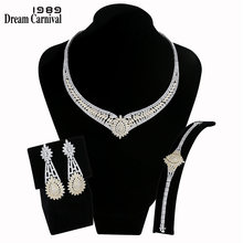 DreamCarnival 1989 Luxury Jewellery Sets for Women 2-Tone Gold Color Zircon Wedding Bijoux Middle East Dubai Hot Selling SN06822(China)