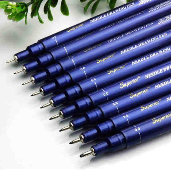 후크 라인 스트로크 바늘 펜 기계 연필 0.05/0.1/0.2/0.3/0.4/0.5/0.6/0.8/1.0 미리메터 9 개 세트 무료 배송
