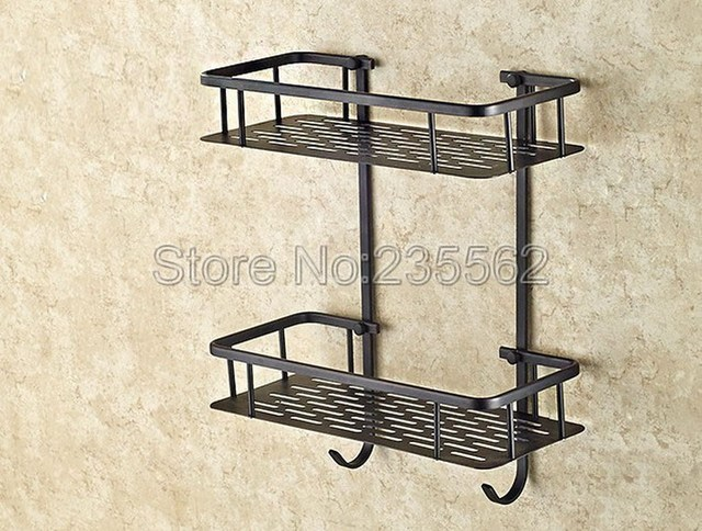 Black Oil Rubbed Bronze Bathroom Accessory Wall Mounted Soap ...